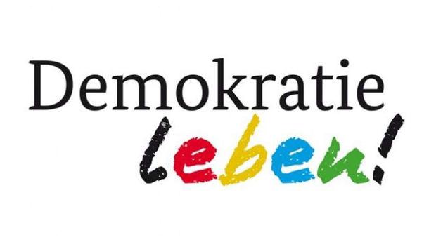 Das Bild zeigt das Logo des Bundesprogramms Demokratie leben!