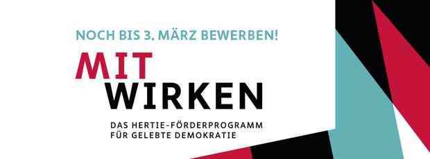 Mitwirken. Bewirb dein Projekt in der MITWIRKEN-Kampagne. Noch bis 3. März bewerben!