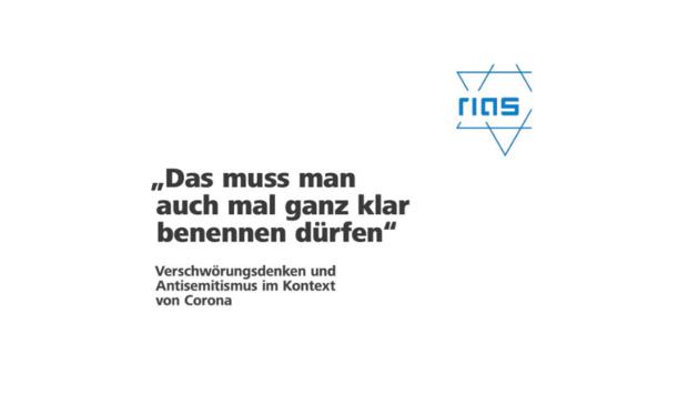 """Ein Bild der Publikation mit dem Titel: """"Das muss man auch mal ganz klar benennen dürfen"""" – Verschwörungsdenken und Antisemitismus im Kontext von Corona"""