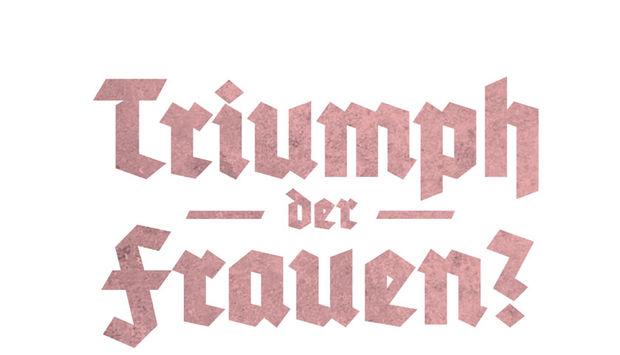 """In altdeutscher Schrift steht der Buchtitel """"Triumph der Frauen"""""""