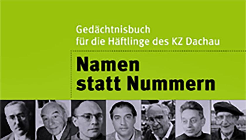 """Das Bild zeigt einen Flyerausschnitt mit der Aufschrift """"Namen statt Nummern"""" und Fotografien verschiedener Personen"""