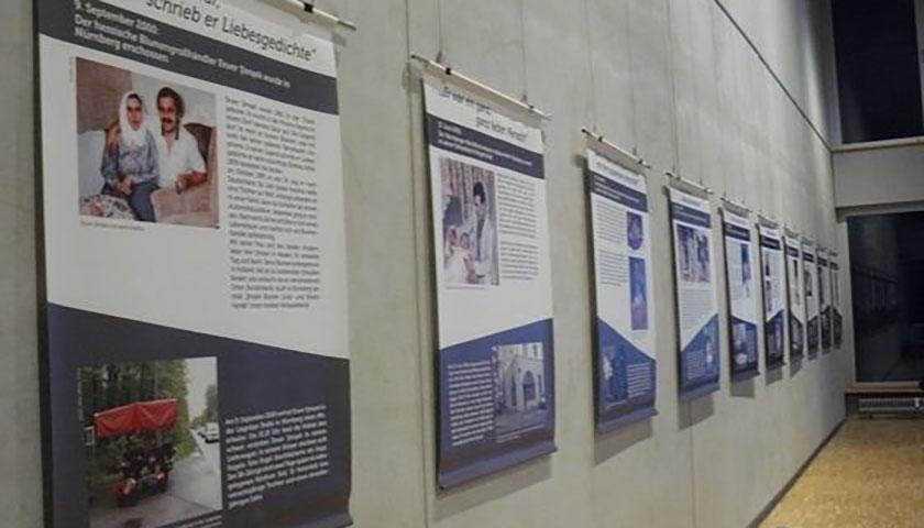 Das Bild zeigt einen Teil der aufgebauten Ausstellung.