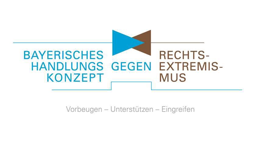 Das Logo des Bayerischen Handlungskonzepts gegen Rechtsextremismus